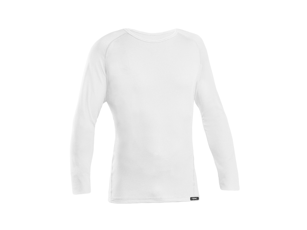 GripGrab Ride Thermal Base Layer - Svedundertrøje L/Æ - Hvid - Str. M